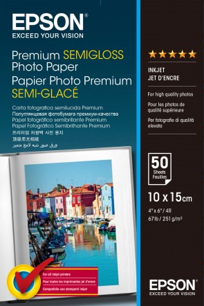 Epson 10x15 Premium Semi-Gloss Photo