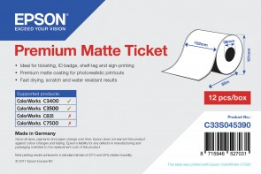 Epson Ticket roll, 102mmx50m.Premium