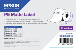 Epson label roll, synthetic, *MOQ18p
