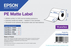 Epson Label roll synthetic, 102x76mm
