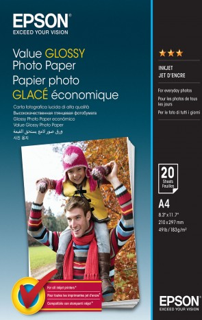 Epson A4 Value Photo Paper 20 sheets