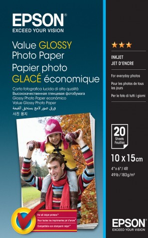Epson 10x15cm Value Photo Paper