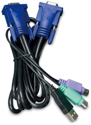 Planet 1.8M USB KVM Cable w built-in