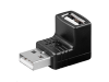 MicroConnect Adapter USB A - A 90° M-F