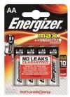 Energizer Battery AA/LR6 Max 4-pak