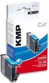 KMP Printtechnik AG Cart. Canon CLI8C comp. cyan