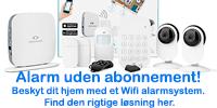 Alarmsystem til hjemmet uden abonnement